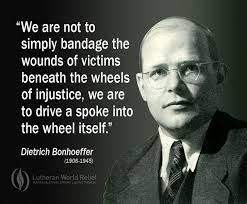 Bonhoeffer--spoke into the wheel